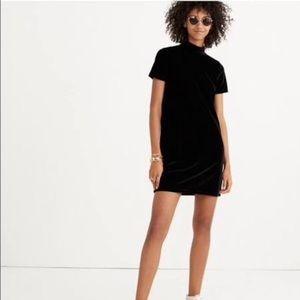 Madewell Velvet Turtleneck Dress